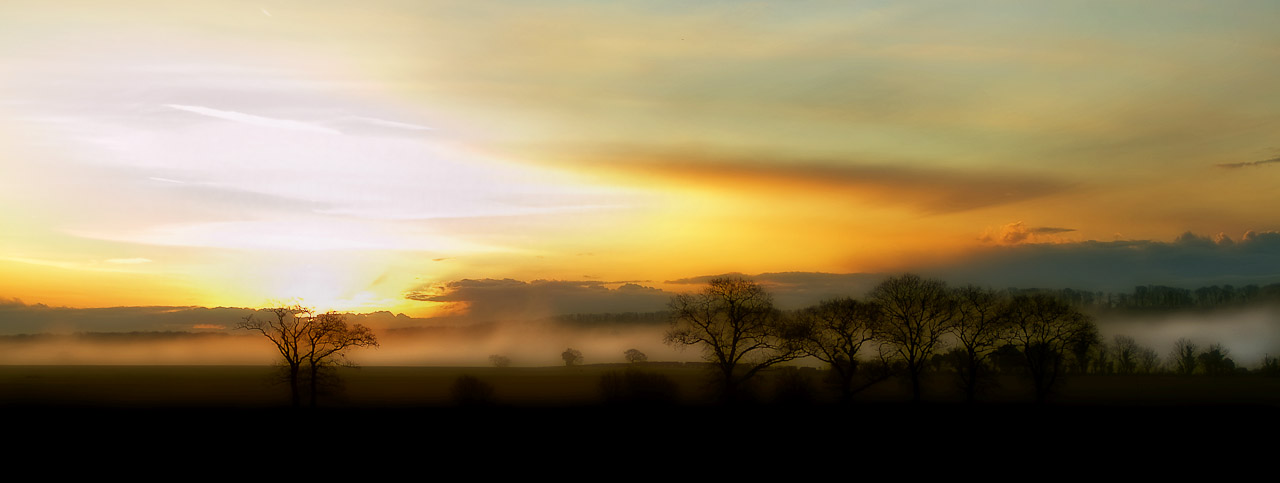 Sunrise and Winter Mists